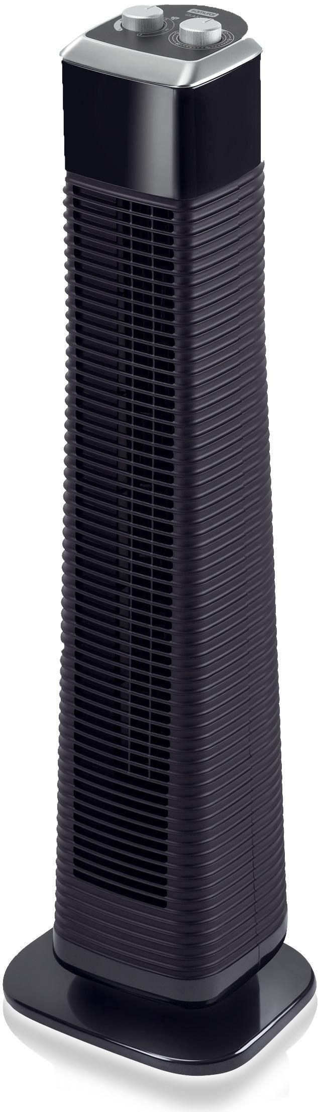 Rowenta Turmventilator CLASSIC TOWER VU6140, schwarz-silber