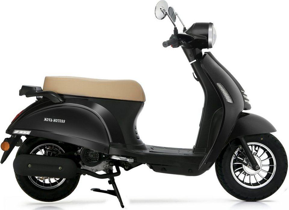 Nova Motors Mofarroller, 49 ccm, 25 km/h, schwarz, »Grace« in schwarz