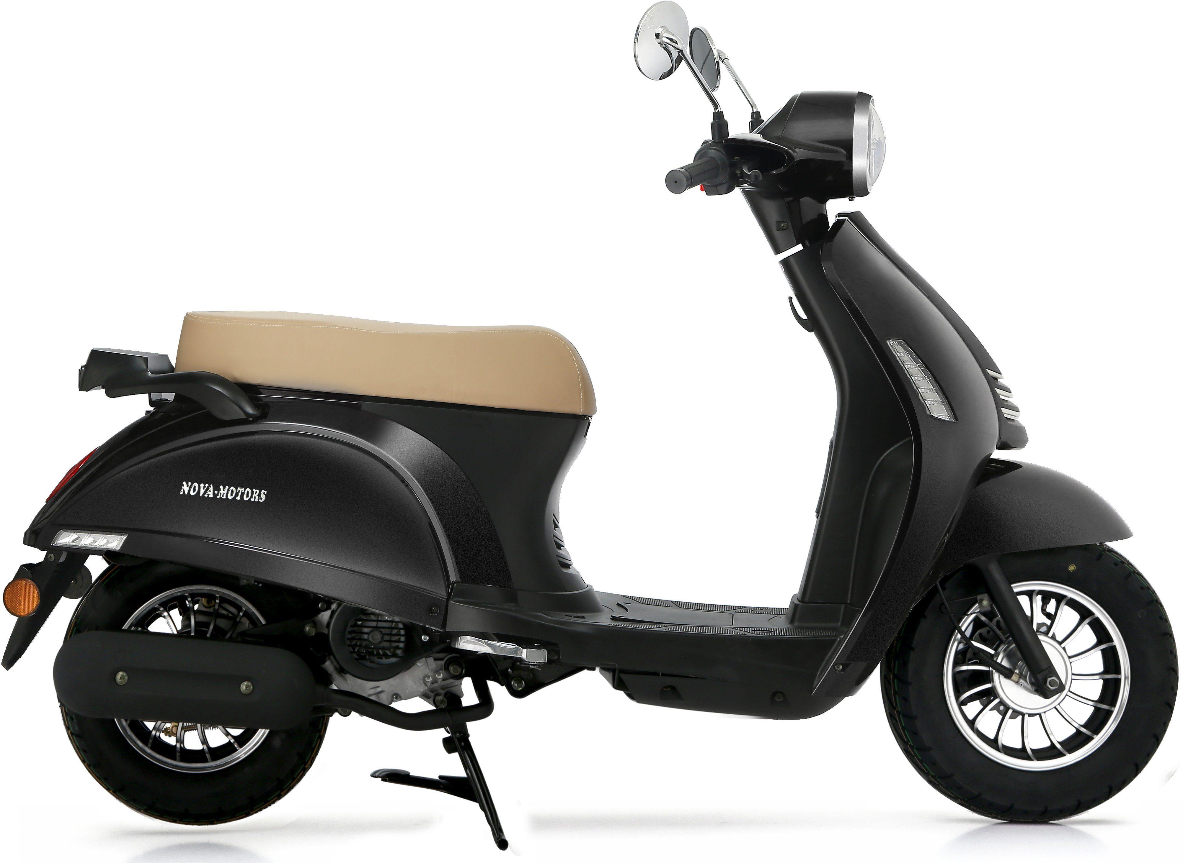 Nova Motors Motorroller, 49 ccm, 45 km/h, schwarz, »Grace«