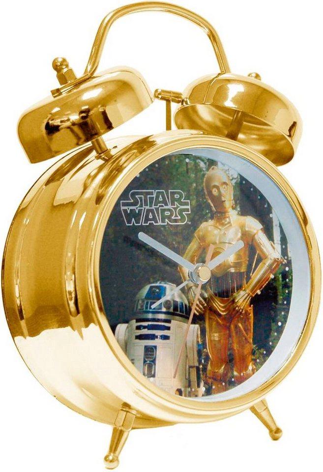 Star Wars Wecker, »21601« in goldfarben