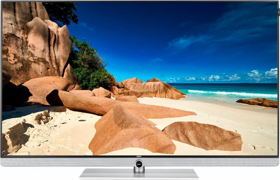 Loewe Art 48 white, LED Fernseher, 122 cm (48 Zoll), 2160p (4K Ultra HD), Smart-TV in weiß