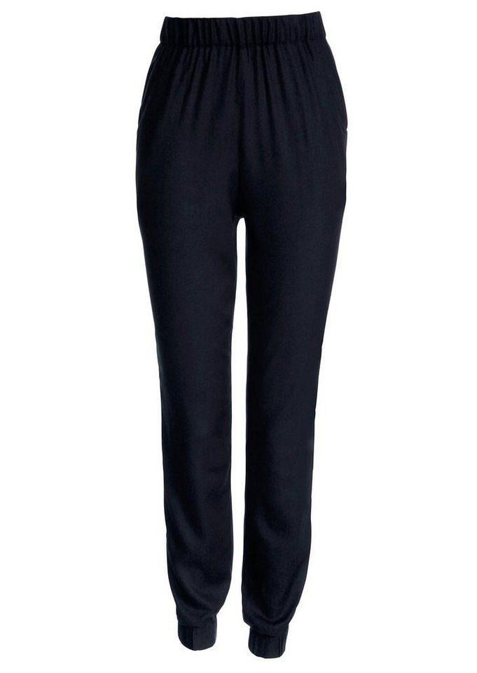 Classic Basics Hose aus weich fließender Viskose in schwarz