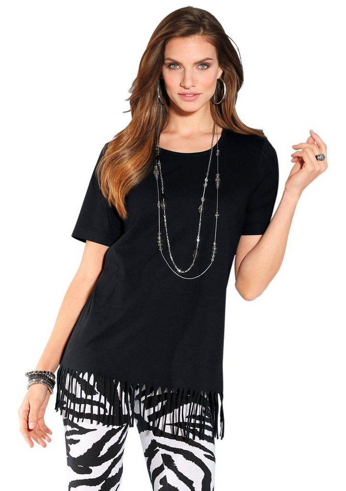 Longshirt in schwarz