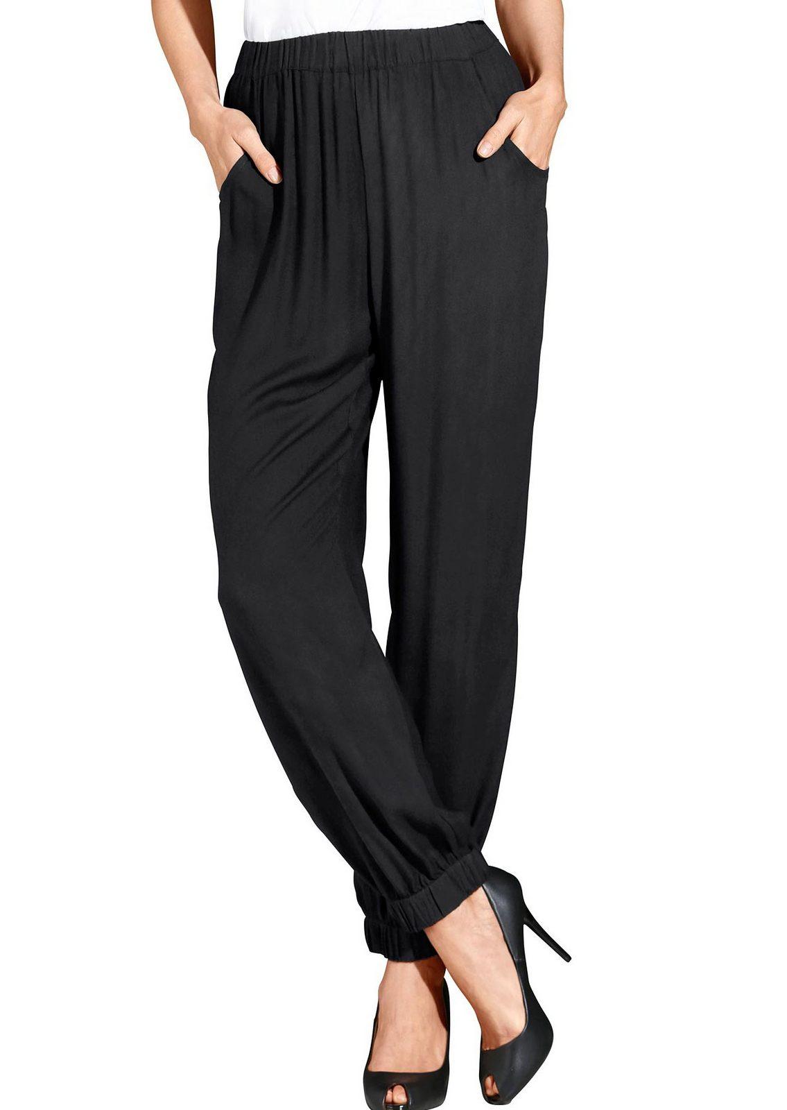 Classic Basics Hose aus weich fließender Viskose