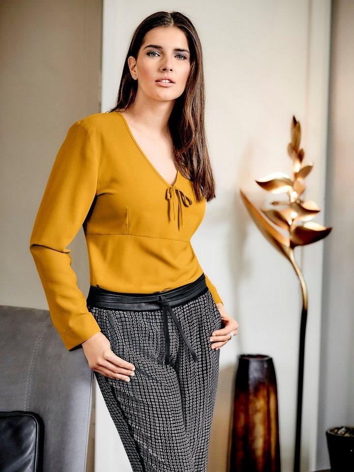 Oversized-Bluse in safran