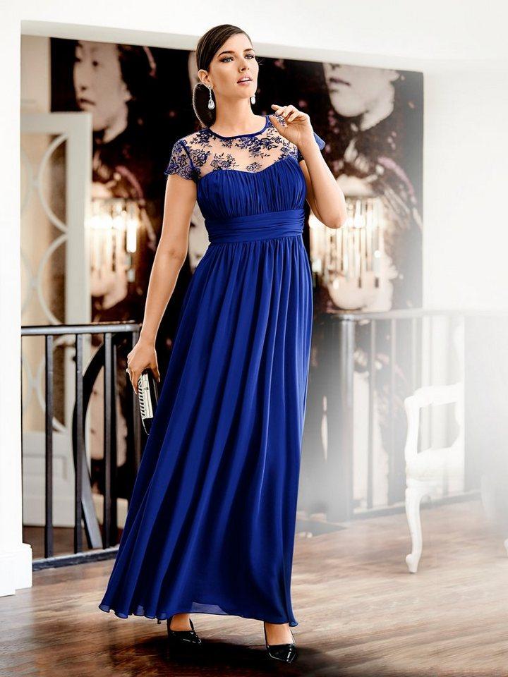 Abendkleid in royalblau