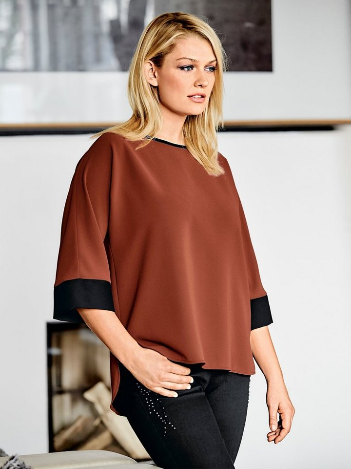 Oversized-Bluse in rost