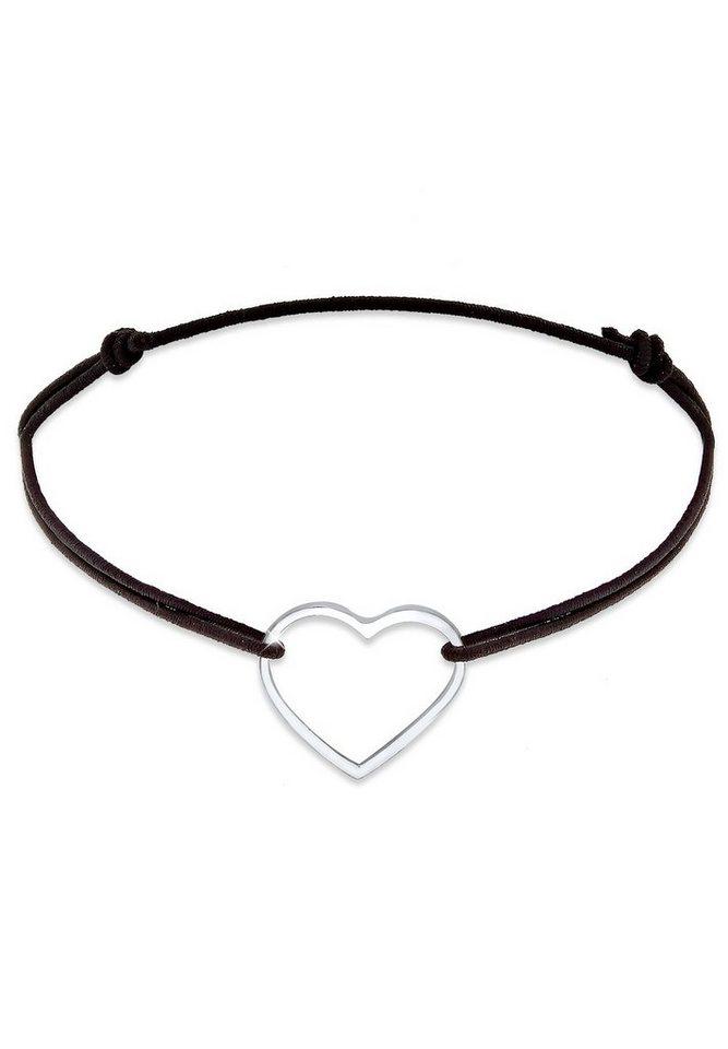 Elli Armband »Herz Silber« in Schwarz