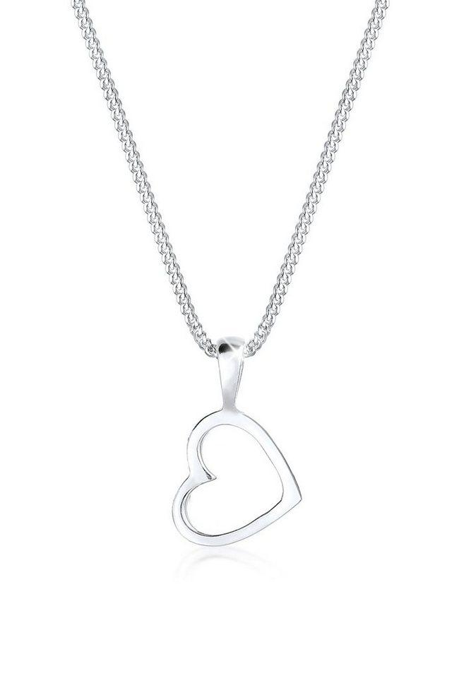 Elli Halskette »Herz Basic 925 Silber« in Silber