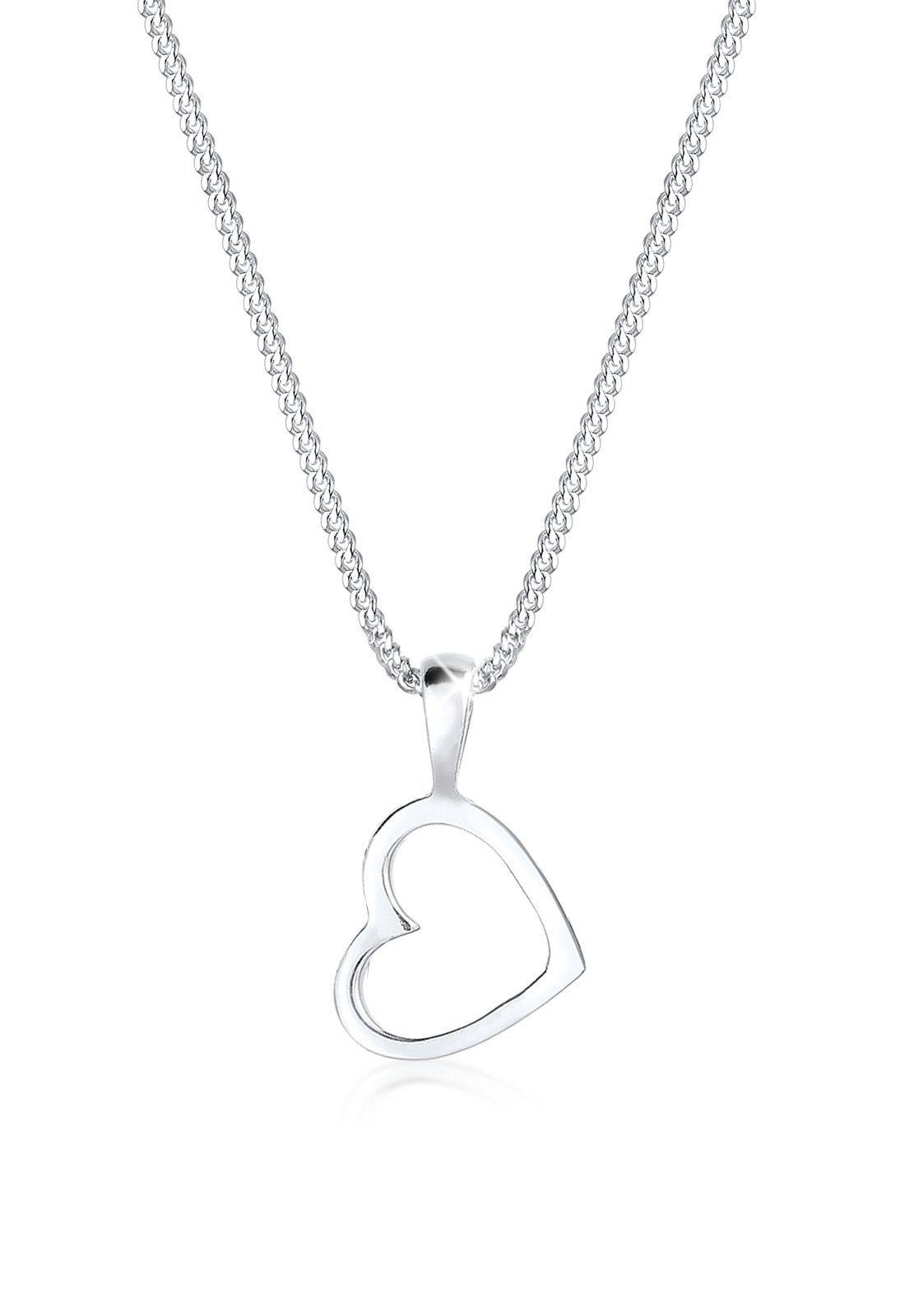 Elli Halskette »Herz Basic 925 Silber«