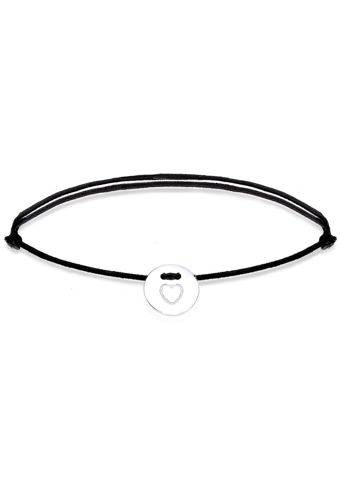 Elli Armband »Herz Silber Textilband«