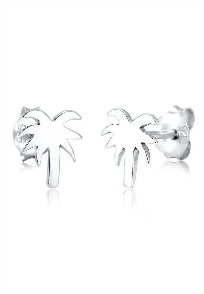 Elli Ohrringe »Palme Trend Strand Urlaub Meer Filigran 925 Silber« in Silber