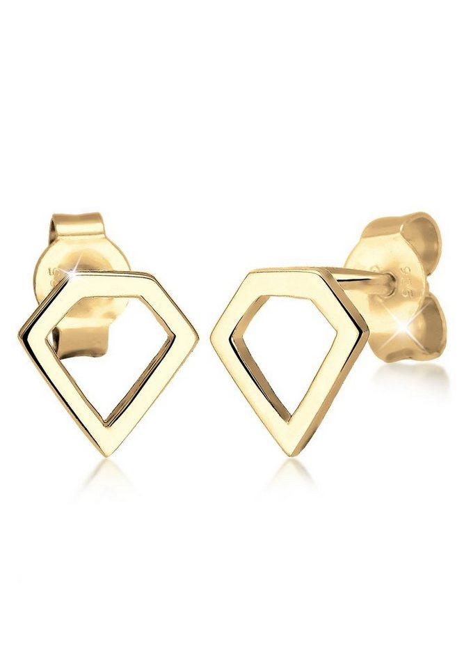 Elli Ohrringe »Diamant Geo vergoldet« in Gold