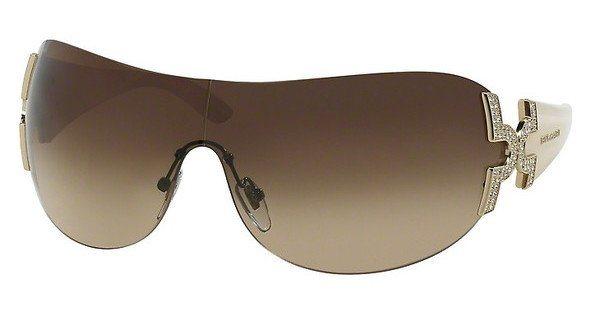 Bvlgari Damen Sonnenbrille » BV6065B« in 278/13 - gold/braun
