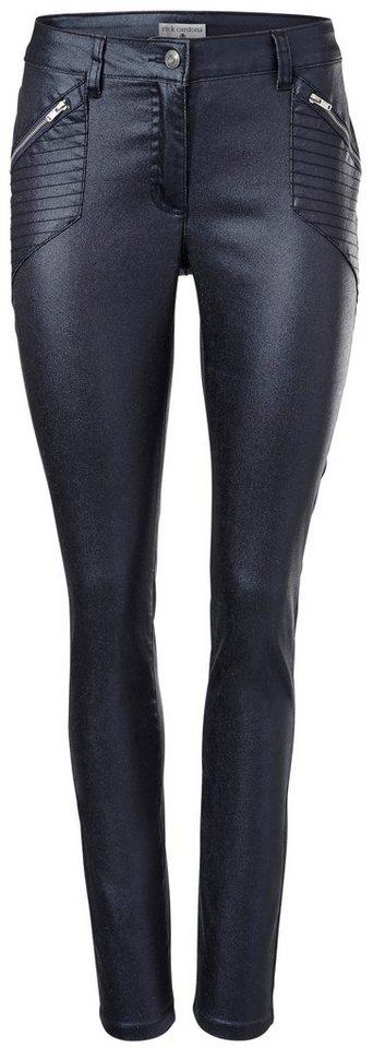 heine STYLE Push-up Jeans mit Glanzeffekt | Bekleidung > Jeans > Push-Up Jeans | Blau | Elasthan | heine