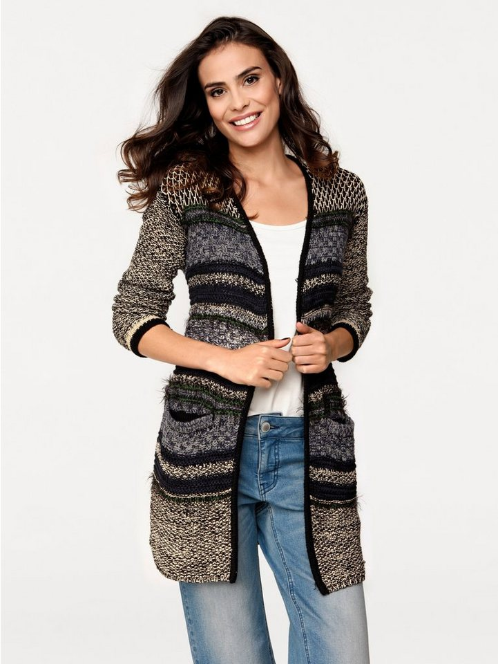 B.C. BEST CONNECTIONS by Heine Cardigan in jeansblau