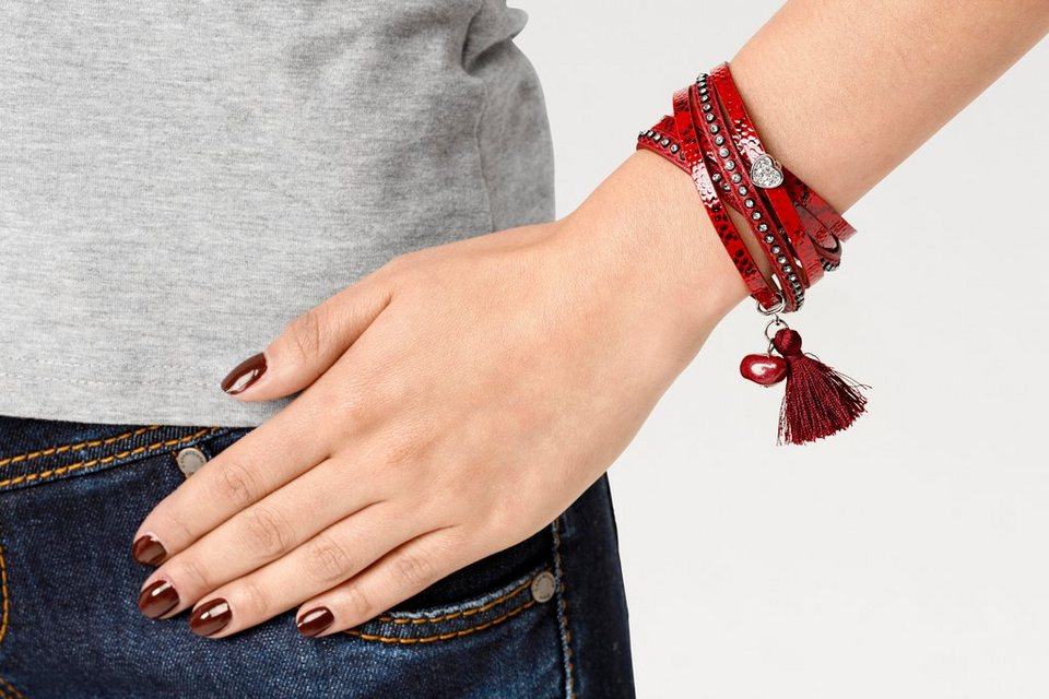 Armband in rot
