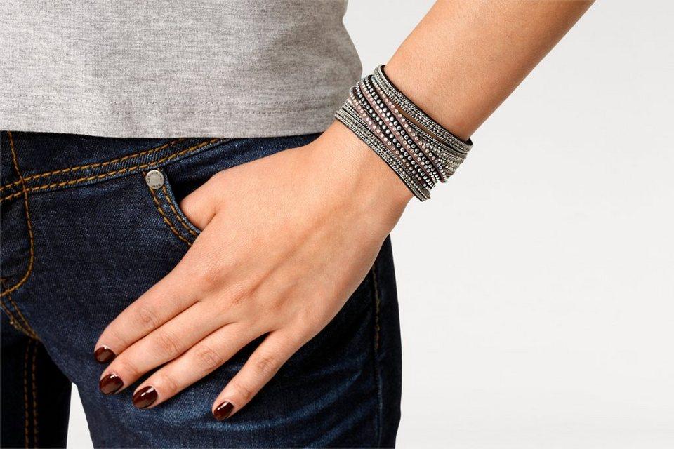 Armband in schwarz/grau