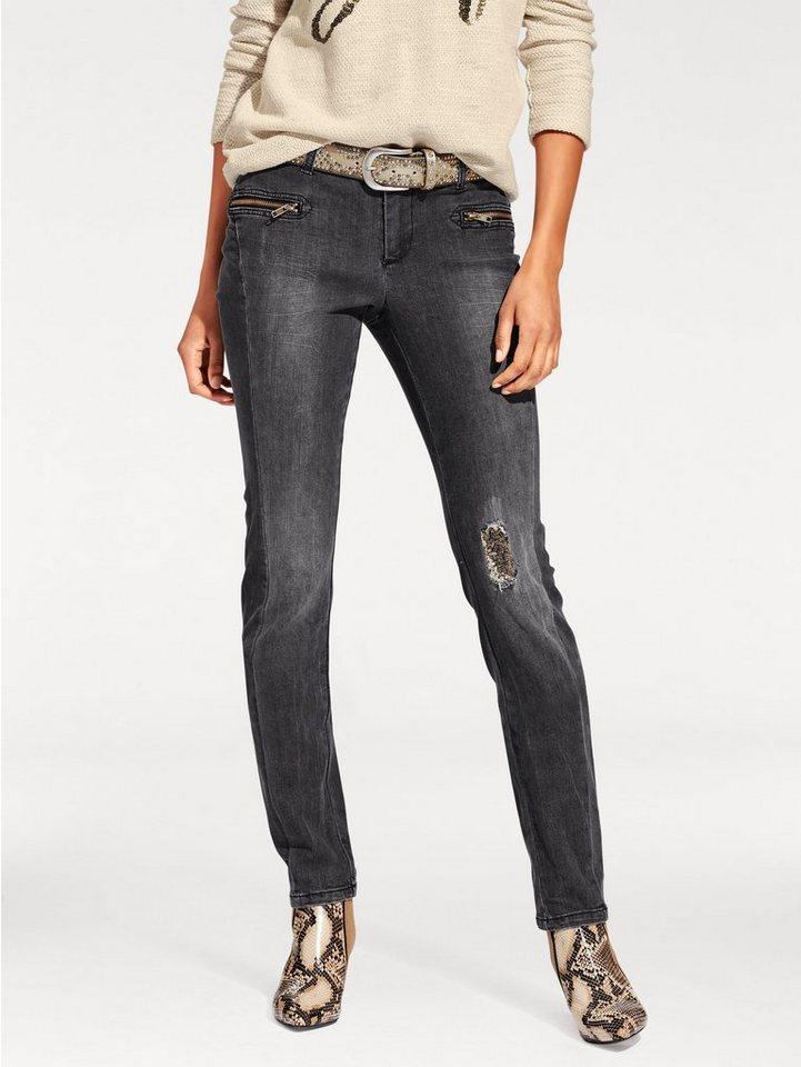 Skinny-Jeans in black stone