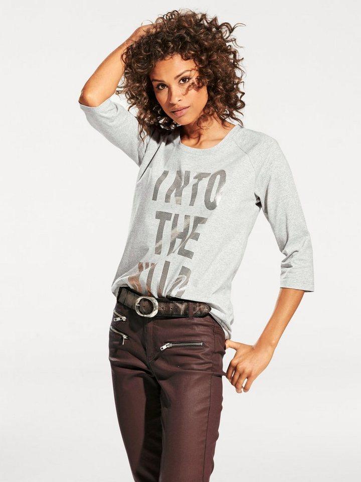 Oversized-Shirt in grau-melange