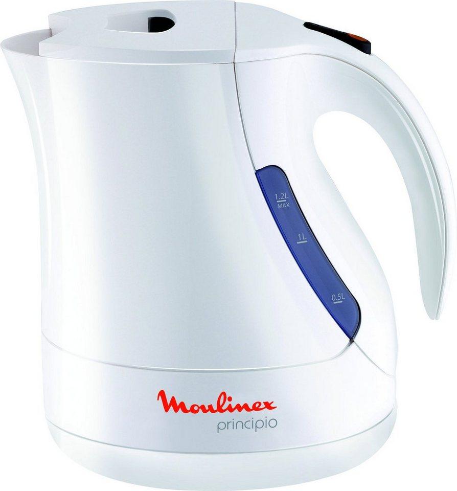 Moulinex Wasserkocher Principio BY1071, 1,2 Liter, 2400 Watt, weiß in weiß