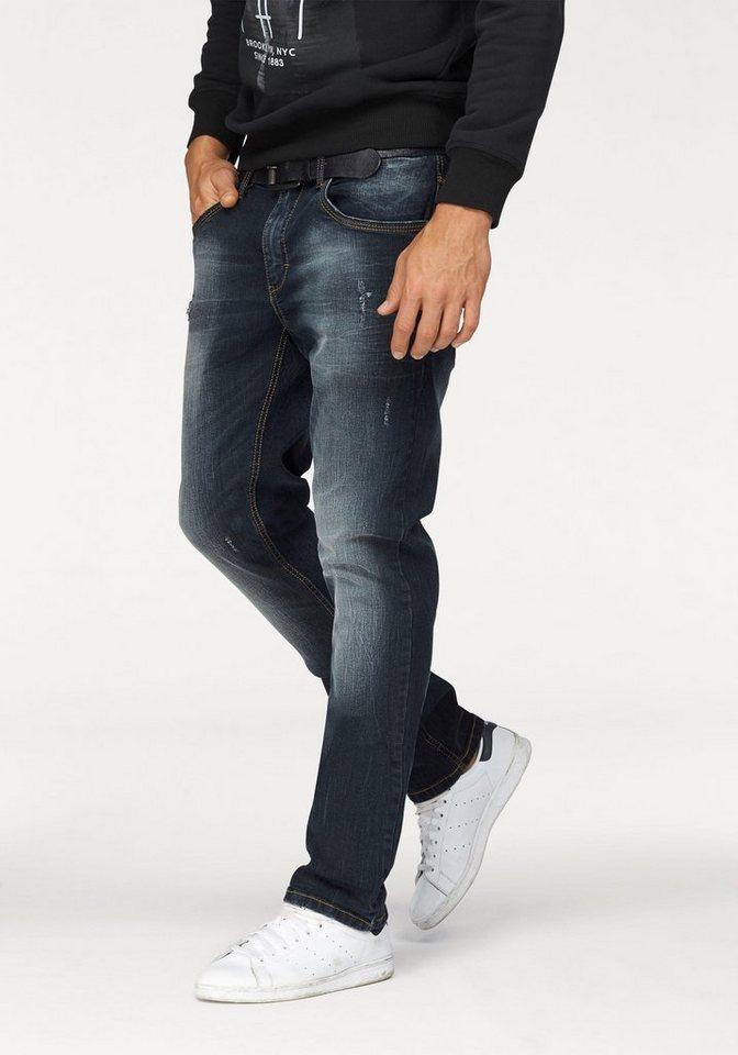 John Devin Slim-fit-Jeans in dirty-blue-used