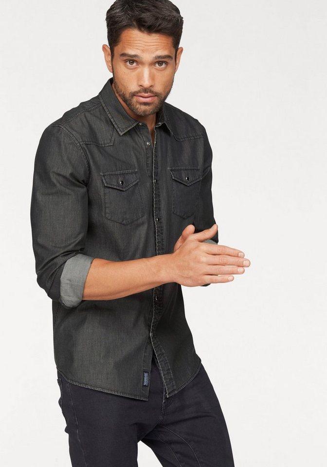 Bruno Banani Jeanshemd in black-washed