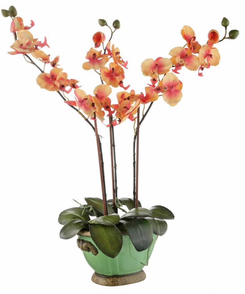Home affaire Kunstblume »Orchidee«, in orange