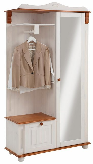 Garderoben Sets - Home affaire Kompaktgarderobe »Adele« aus massiver Kiefer  - Onlineshop OTTO
