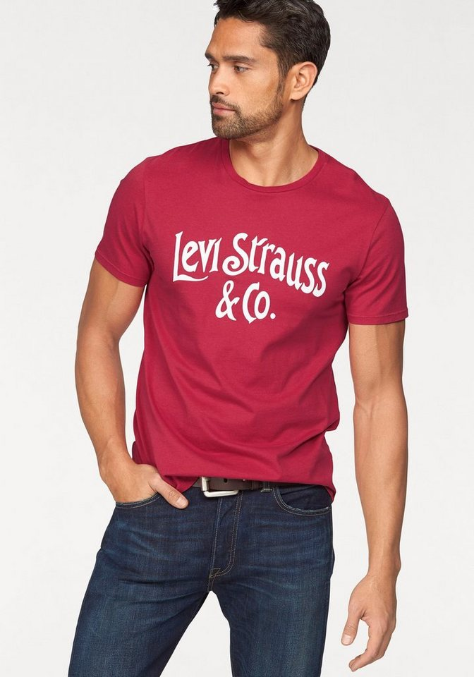 Levi's® T-Shirt in rot