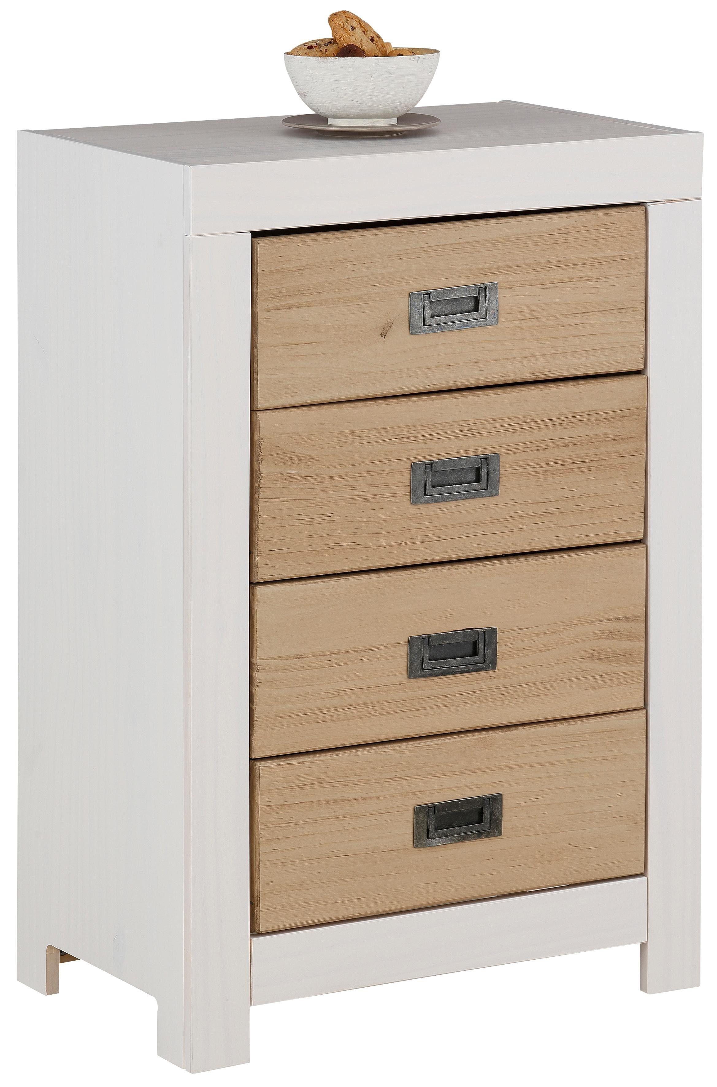 Home affaire Kommode »Cubo« aus Massivholz, Breite 55 cm