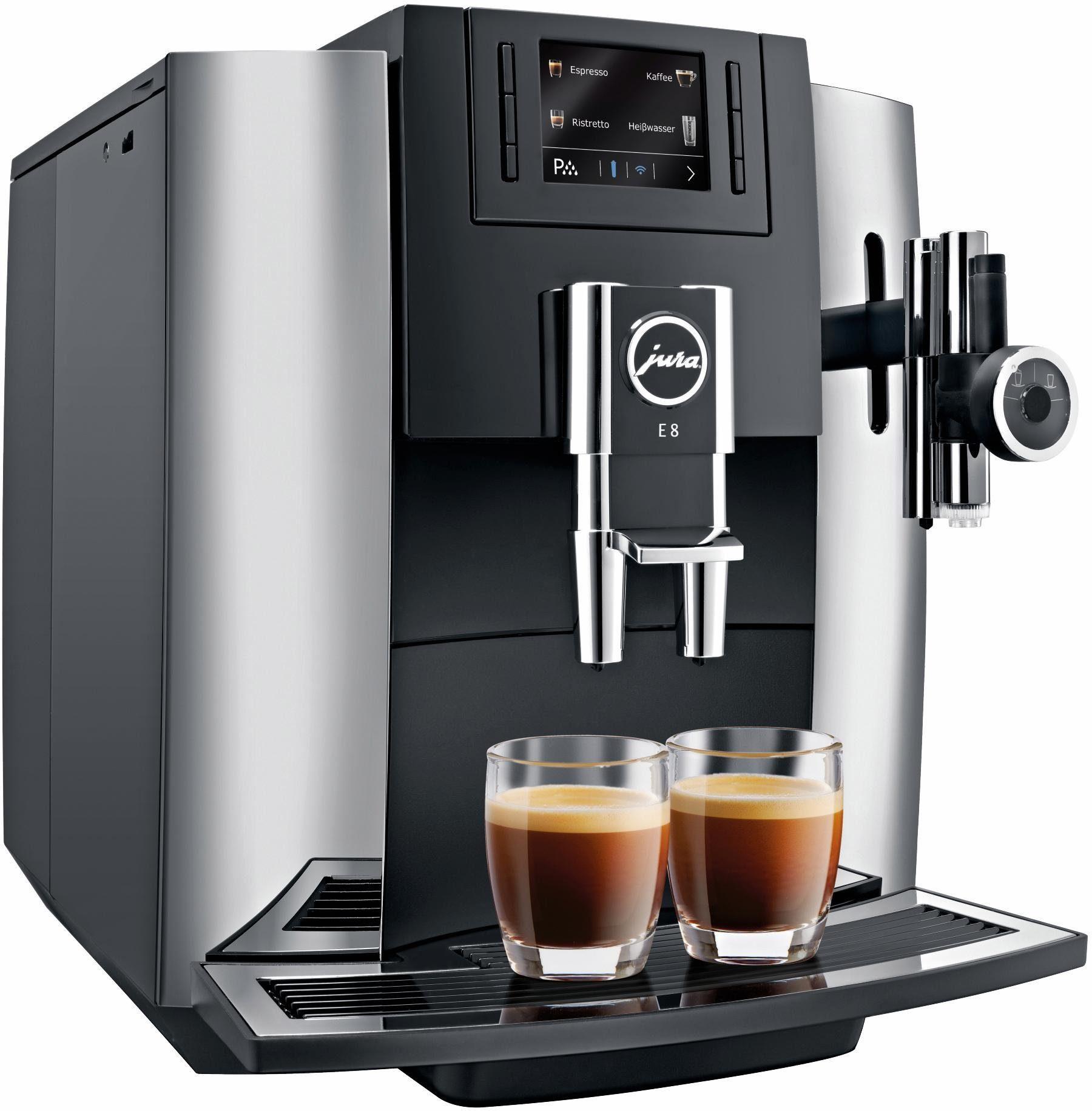 Jura Espresso-/Kaffee-Vollautomat E8 Chrom, 15 bar