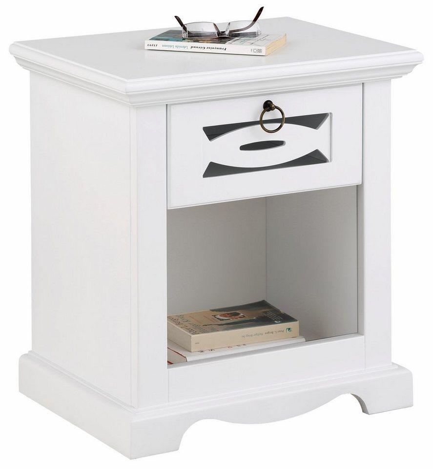 Home affaire Nachttisch »Elegant« in weiß