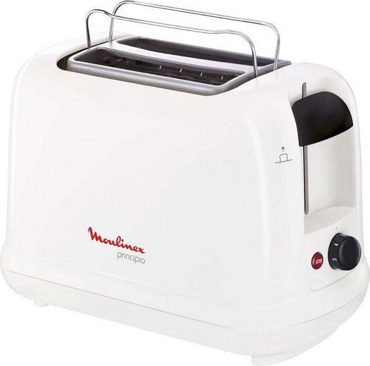 Moulinex Toaster Principio LT1611, 2 kurze Schlitze, für 2 Scheiben, 850 W