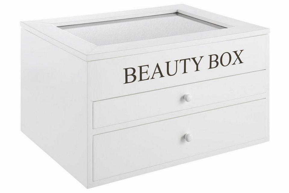 Home affaire Aufbewahrungsbox »Beauty Box« in weiß