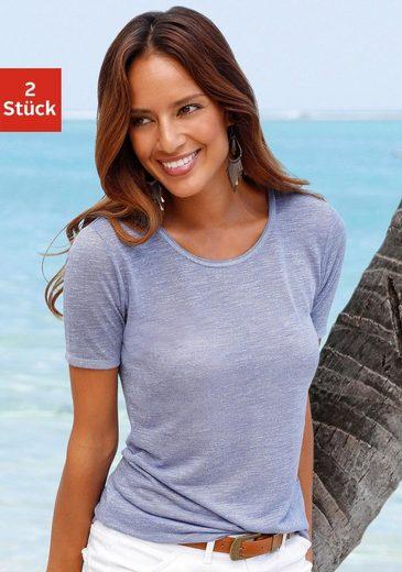 Beachtime Shirts in leicht transparenter Slubqualität (2 Stück)