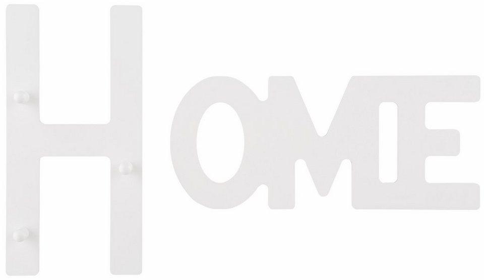 Home affaire Hakenleiste »Home« in weiß