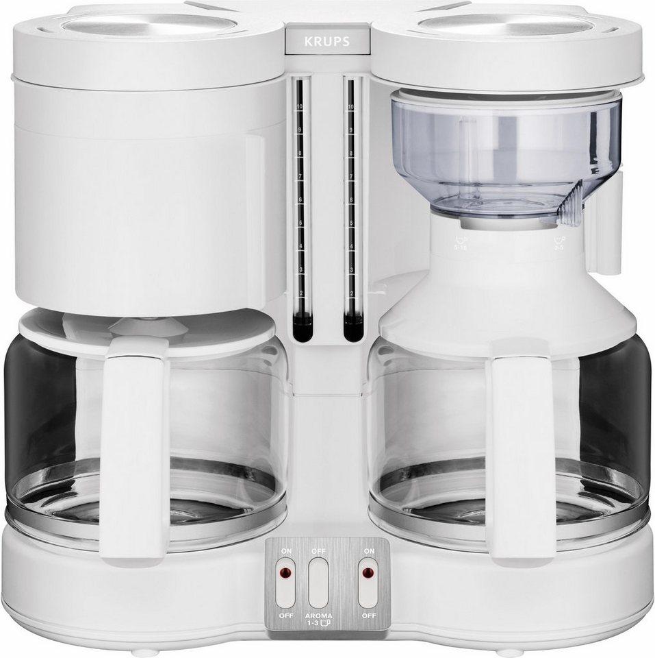 Krups Doppel-Filterkaffeemaschine Duothek Plus KM8501, weiß in weiß