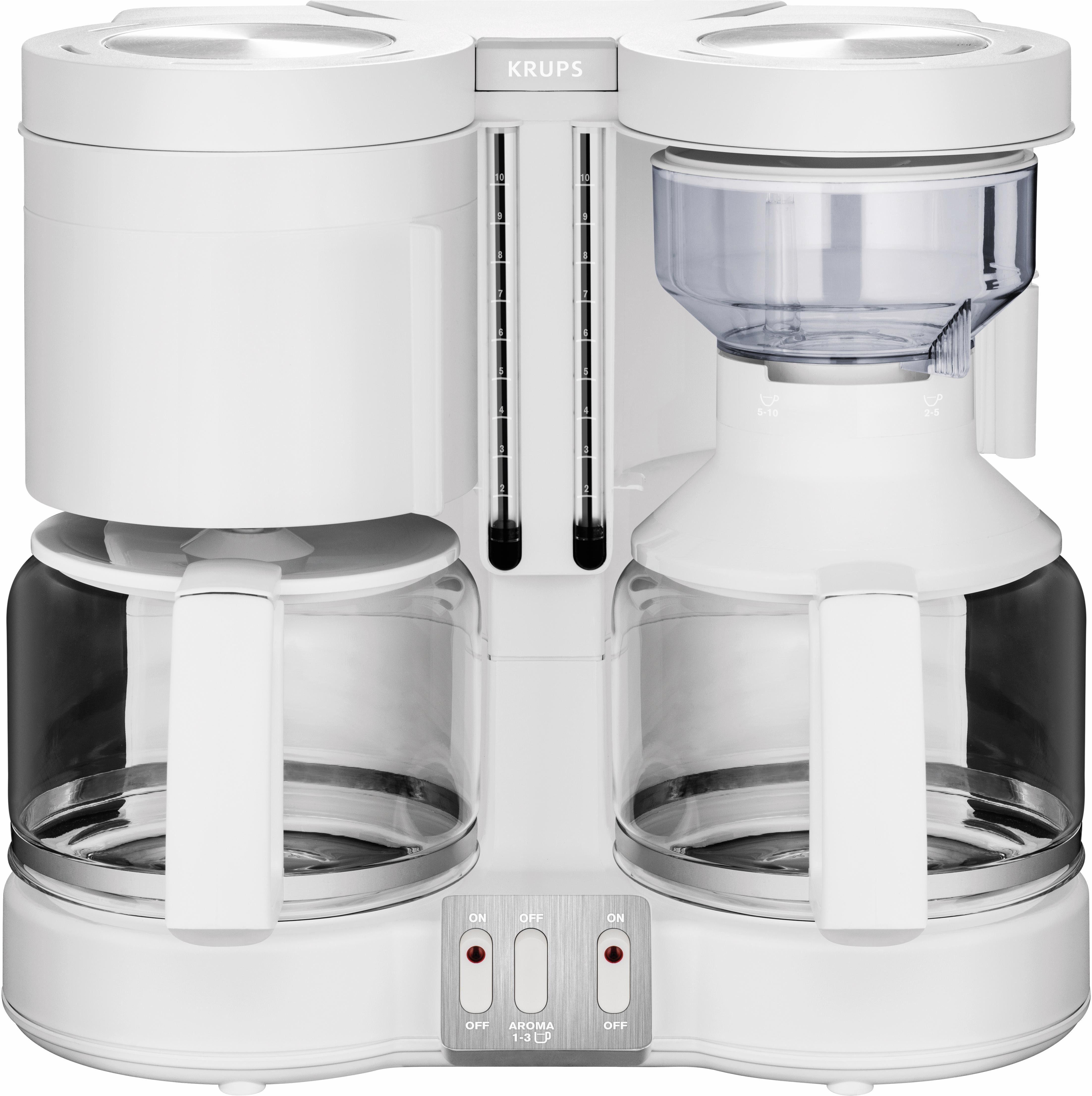 Krups Doppel-Filterkaffeemaschine Duothek Plus KM8501, weiß