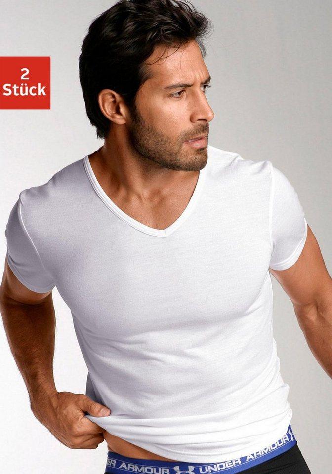 Under Armour V-Shirts (2 Stück) mit V- Ausschnitt in 2x weiß