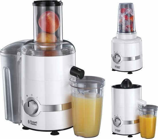 RUSSELL HOBBS Entsafter Smoothie Maker 22700-56, 800 W, 3in1 Gerät: Entsafter, Zitruspresse und Smoothie Maker
