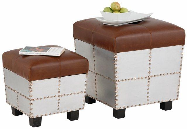 Home affaire Sitztruhe (2er-Set), mit aufklappbarer Sitzfläche   Küche und Esszimmer > Sitzbänke > Sitztruhen   home affaire
