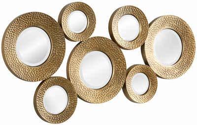 Leonique Dekospiegel »Spiegel«, Wanddeko, bestehend aus 7 runden Spiegelementen