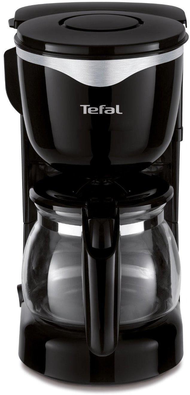 Tefal Glaskannen-Kaffeemaschine Mini CM340811, für 0,6 Liter, Edelstahl-schwarz