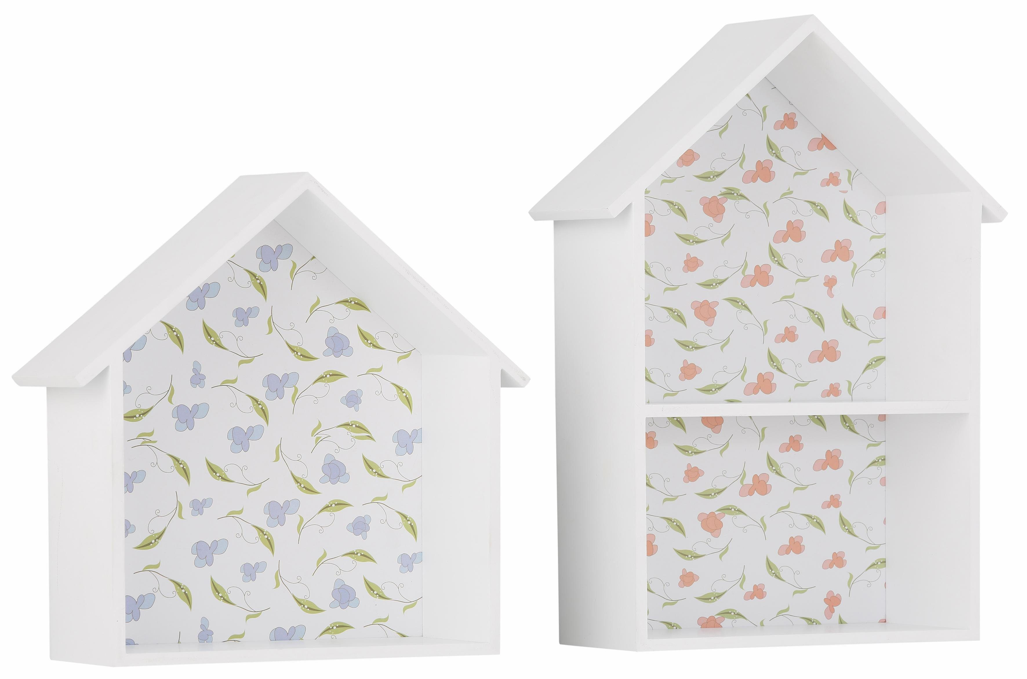 Home affaire Wandkästen »Häuser« (2-tlg.)