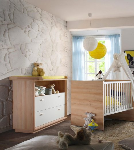 spar set sven bestehend aus babybett und wickelkommode in edelbuche wei lack online kaufen. Black Bedroom Furniture Sets. Home Design Ideas