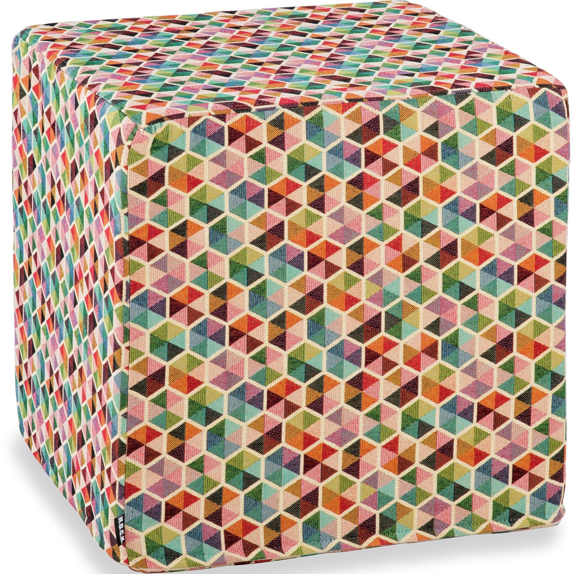 Hock Sitzwürfel »Akasma«, 45/45/45 cm | Wohnzimmer > Hocker & Poufs > Sitzwürfel | Muster | Chenille | H.O.C.K.