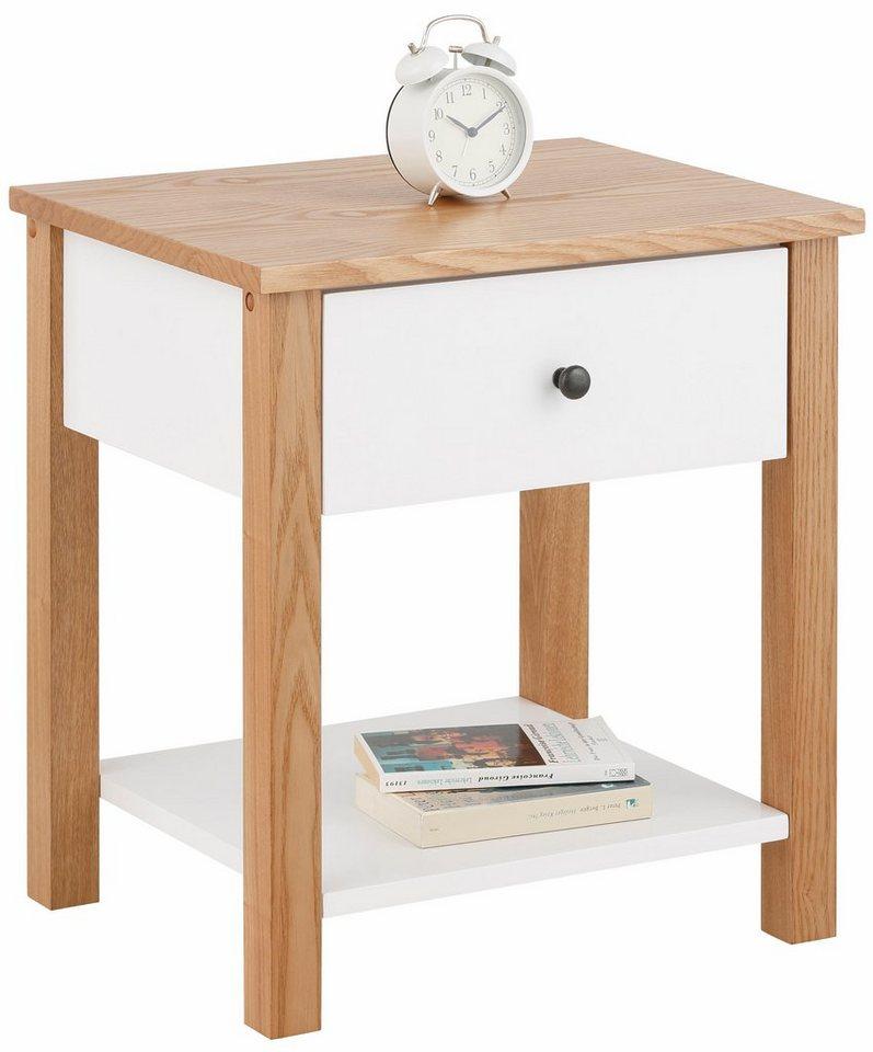Home affaire Nachttisch »Jella« in weiß