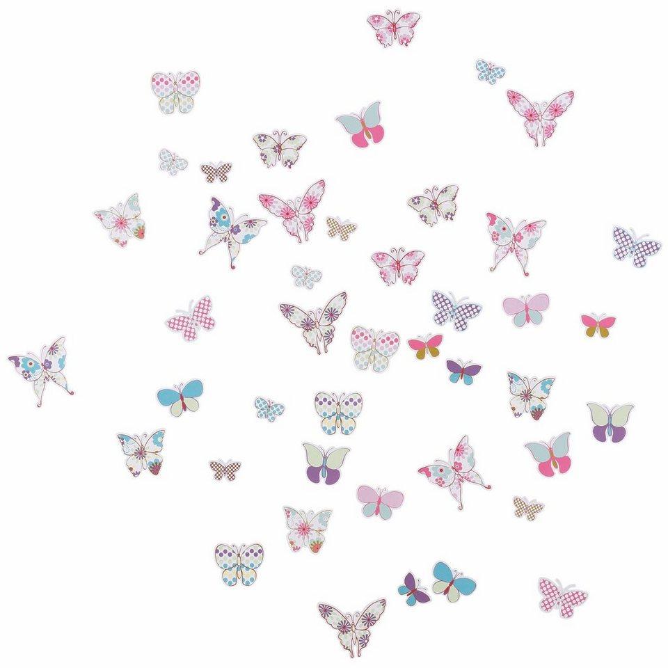 Deko-Sticker, EUROGRAPHICS, »Butterflies« in rosa