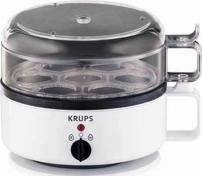 Krups Eierkocher F23070, Anzahl Eier: 7 St., 400 W, mit Wasserstandsanzeige, Koch- und Warmhaltefunktion, Weiß